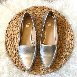 Gap Metallic Silver Loafers 10